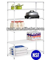 Zhong Shan 5 Tiers NSF White Epoxy Wire Shelving for Storage Appliance