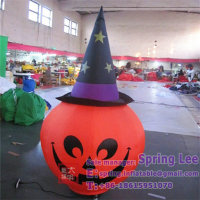 2-5m Halloween party/event/nightclub decorative inflatable pumpkin with hat