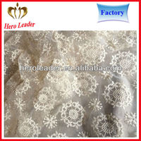 wholesale anti-static african organza lace fabric for wedding,curtain
