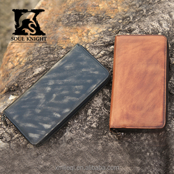 SK-8043 men natural leather wallet handmade wallet wholesale
