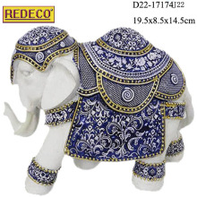 Hot sale home decoration indian style resin large elephant statues