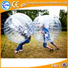 0.8mm PVC Cheap transparent bubble ball water bumper ball soccer bubble footabll