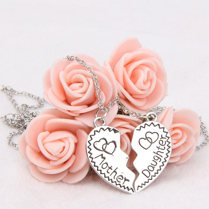 Imitation ruby necklace fashion, heart shaped love necklace wholesale
