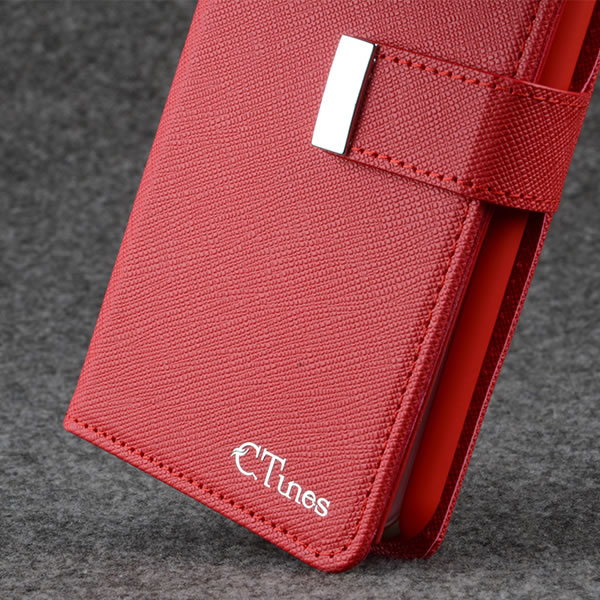 C&T Magnetic detachable removable Pouch Wallet cell phone leather case for iPhone 6 Plus