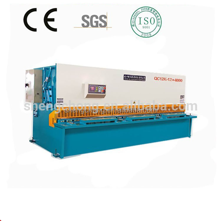 SCMT 2016 Design Stainless steel metal plate shearing machine / iron carbon steel sheet shearing machine