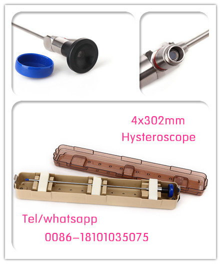 Factory price endoscope supply CE Rigid Hysteroscope 4x302mm wolf olympus stryker compatible manufacturer