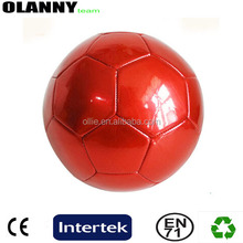 match mini size brand logo made in china professional red official size and weight PVC soccer ball