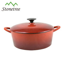 Cast iron cookware / enamelled casserole/hot pot/ dutch oven