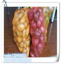 wholesale nylon mesh bag with drawstring for potato onion and firewood