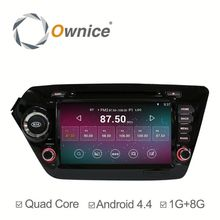 Factory price quad core Android 4.4 up to android 5.1 car stereo for Kia Rio K2 with RDS