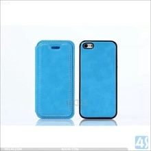 China manufacturer high quality best selling detachable wallet leather case for iphone 5