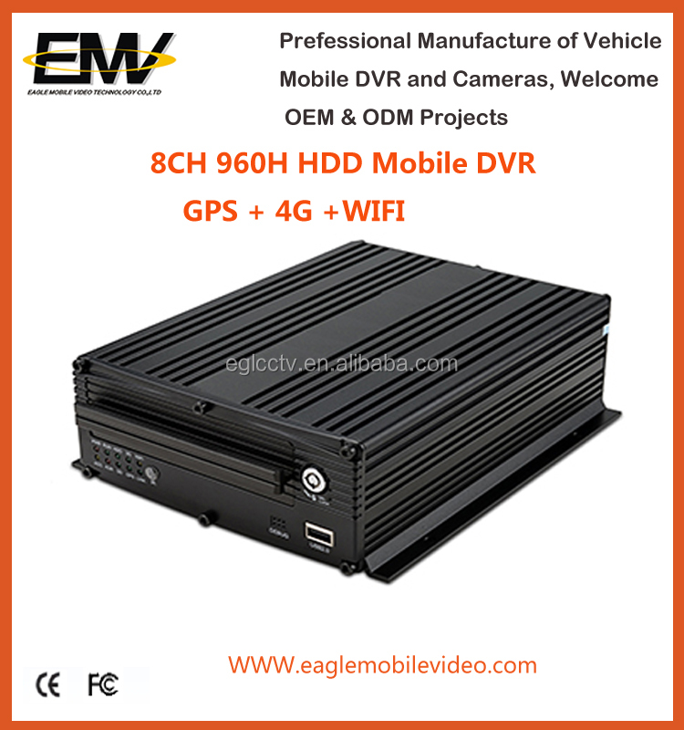 8 Ch 960H HDD 4G Bus MDVR with WIFI GPS