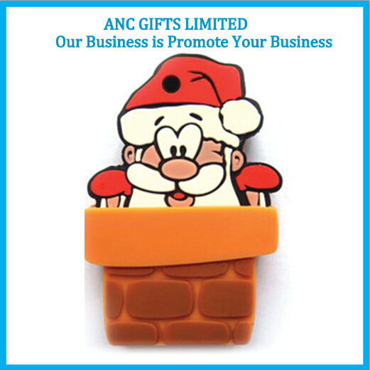 promotional christmas decorations wholesale custom pvc USB flash drive