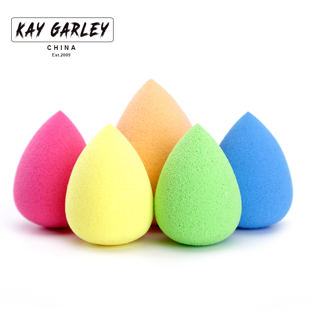 KAY GARLEY high quality teardrop makeup sponge latex free top selling colorful makeup cosmetic sponge accept private label