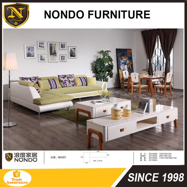 lowest price fabric sofa from china sofa set with chaise BK007