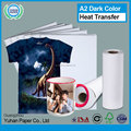 China cast coated rolls sublimation paper cheap high glossy inkjet printing waterproof pvc heat transfer paper