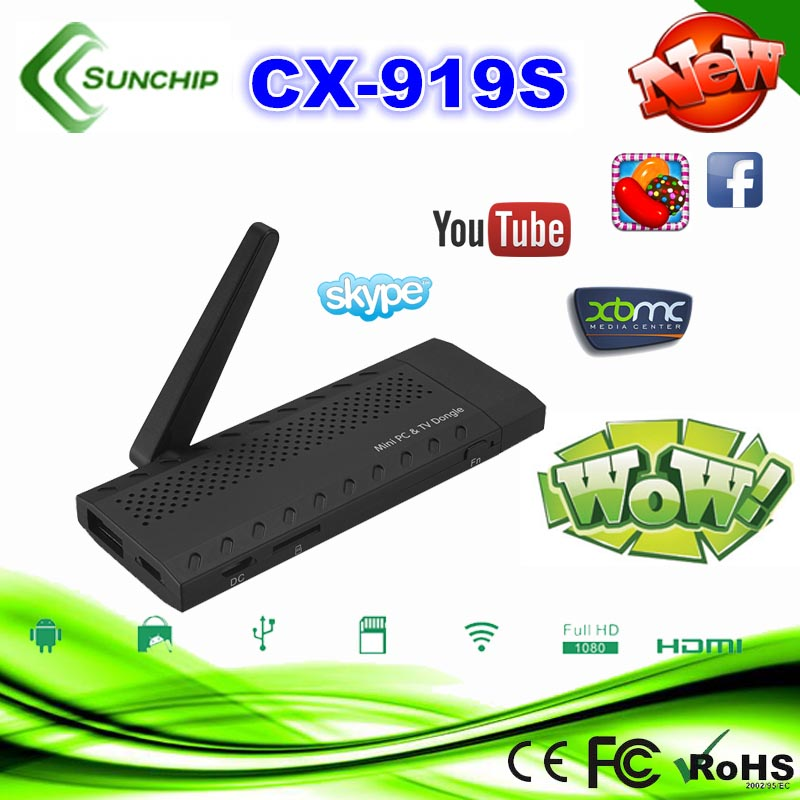 MINI PC Bluetooth WIFI Mini PC Android TV Stick CX-919S android 4.2 hdmi android smart tv dongle stick