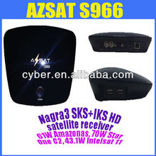 SKS IKS HD Receiver AZSAT S966 for South America satellite Amazonas 61W