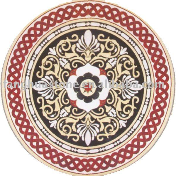 indoor and outdoor stone flooring tile medallions patterns