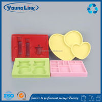 plastic food tray with 3 compartments