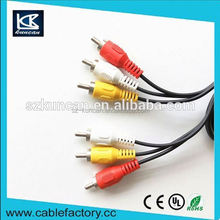 1.8m audio video AV cable rca to aux cable for multimedia