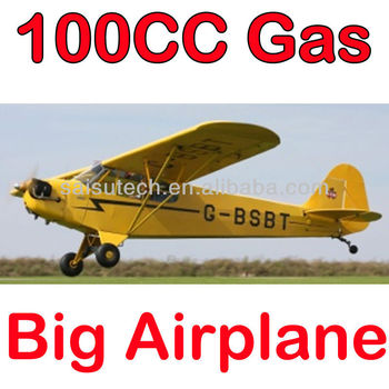 100cc rc model airplane large scale model airplane 3D model toy piper j-3 100cc