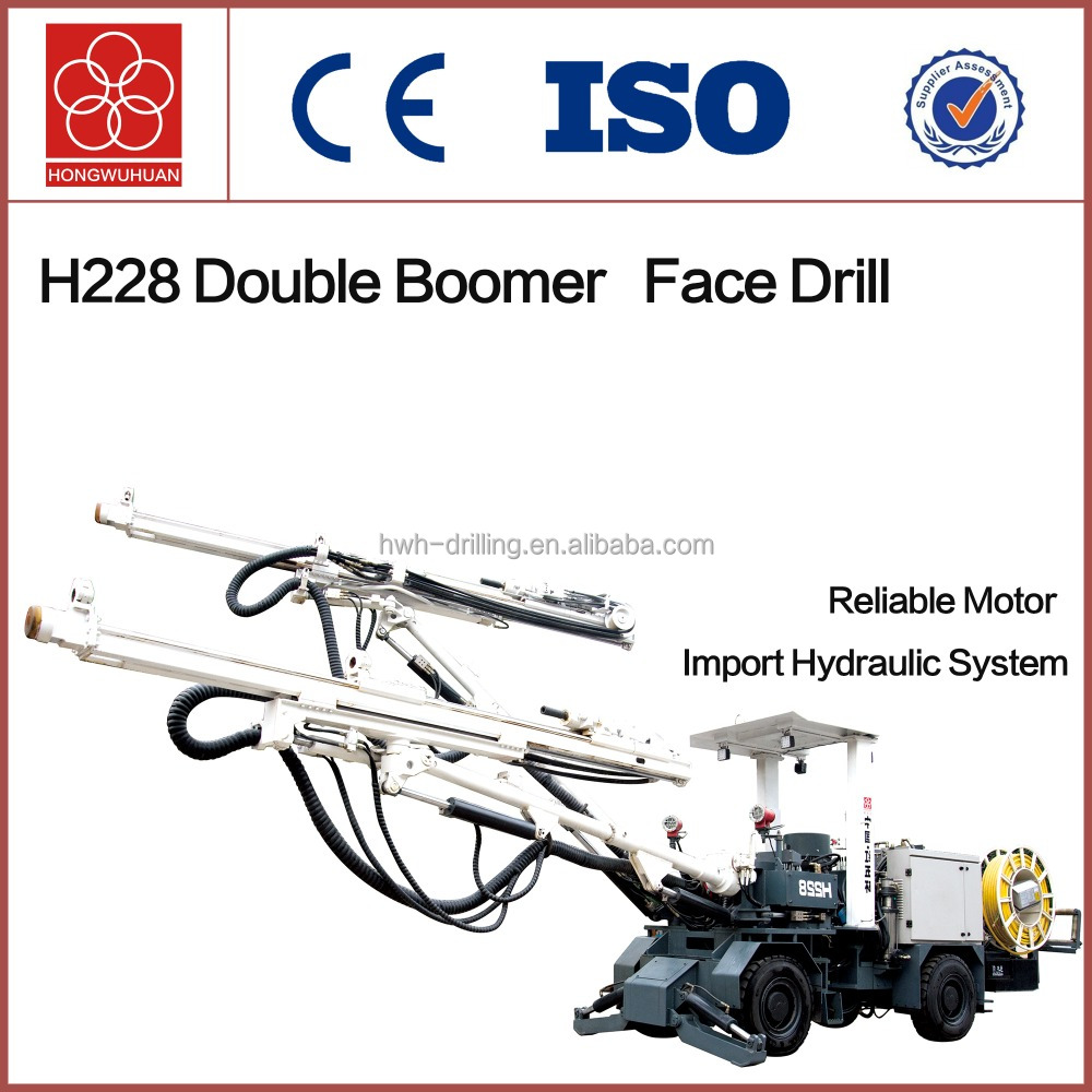 H228 full hydraulic Wheel drill for Tunnel Working face drilling rig for underground mining
