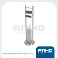 Stainless Steel Toilet Brush Stand and Roll Holder
