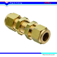 Brass Compression Tube Fitting,bulkhead union