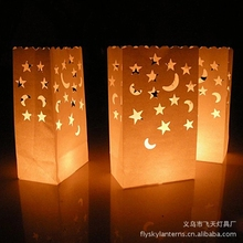Candle Bag Retardant Paper Bags Luminaria Flame Lantern For BBQ Valentine Day Wedding Party Home Outdoor Decor