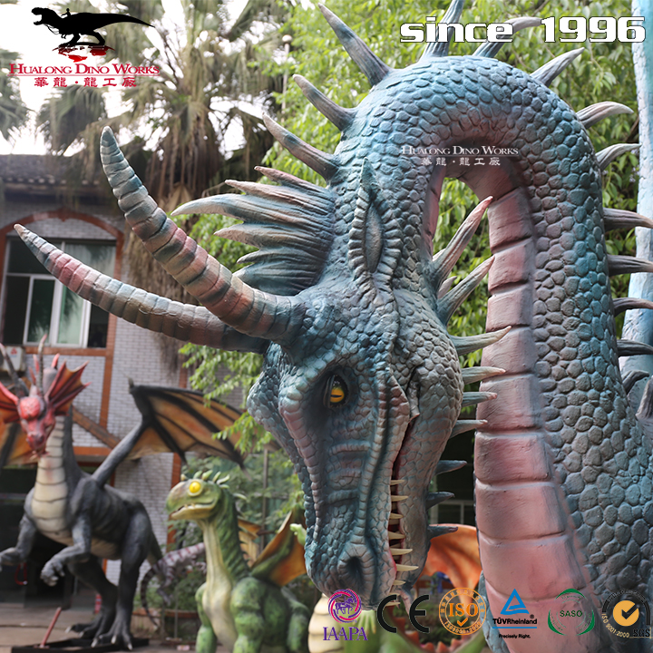 Simulation moving realistic dragon for amusement park