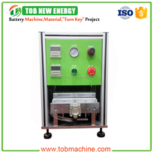 Pneumatic type battery edge folding machine for polymer battery edge folding forming