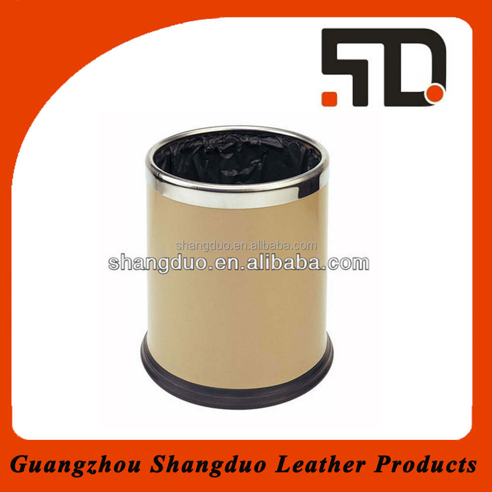 Hot Selling Useful Garbage Bin Decorative Leather-made Trash Bin