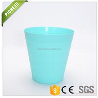 Multi color standard size indoor dustbin plastic Wastebasket for home