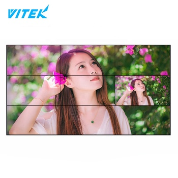 Factory price 55 inch Slim Bezel 3.5MM WIFI Support LCD LED VIDEO WALL DISPLAY PANEL FULL HD 1080P