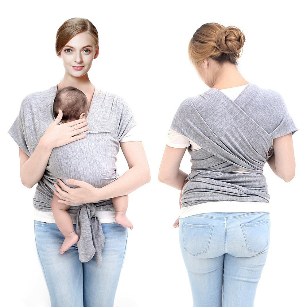 LAT manufacturer baby sling rings baby sling stretchy wrap carrier organic cotton baby sling