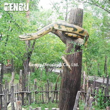 Fiberglass animal snake decorations