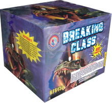 High quality BREAKING GLASS 49 Shots 500 gram cakes fireworks / outdoor fireworks for Christmas/ party / 4th of July