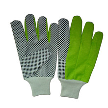 Safety PVC dotted cotton hand gloves