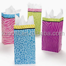 Camouflage print candy stripe paper bag manufacture