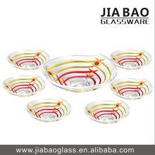 7PCS glass footed bowl set TZ7-GB16035/P