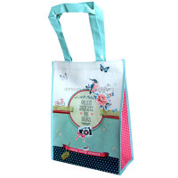 cheap price full color printing pp laminated non woven tote shopping bag