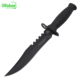 Plastic Handle Military Fighting Utility Fishing Fixed blade camping survival Knife with finger Ring On The handle For Binding