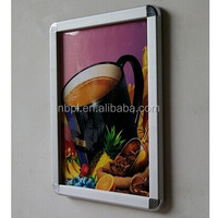 High quality aluminum snap frame wall mounted poster holder poster snap frames