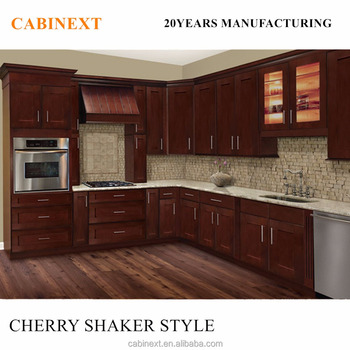 Factory Customized All Wood Plywood MDF Kitchen Cabinets Shaker Style