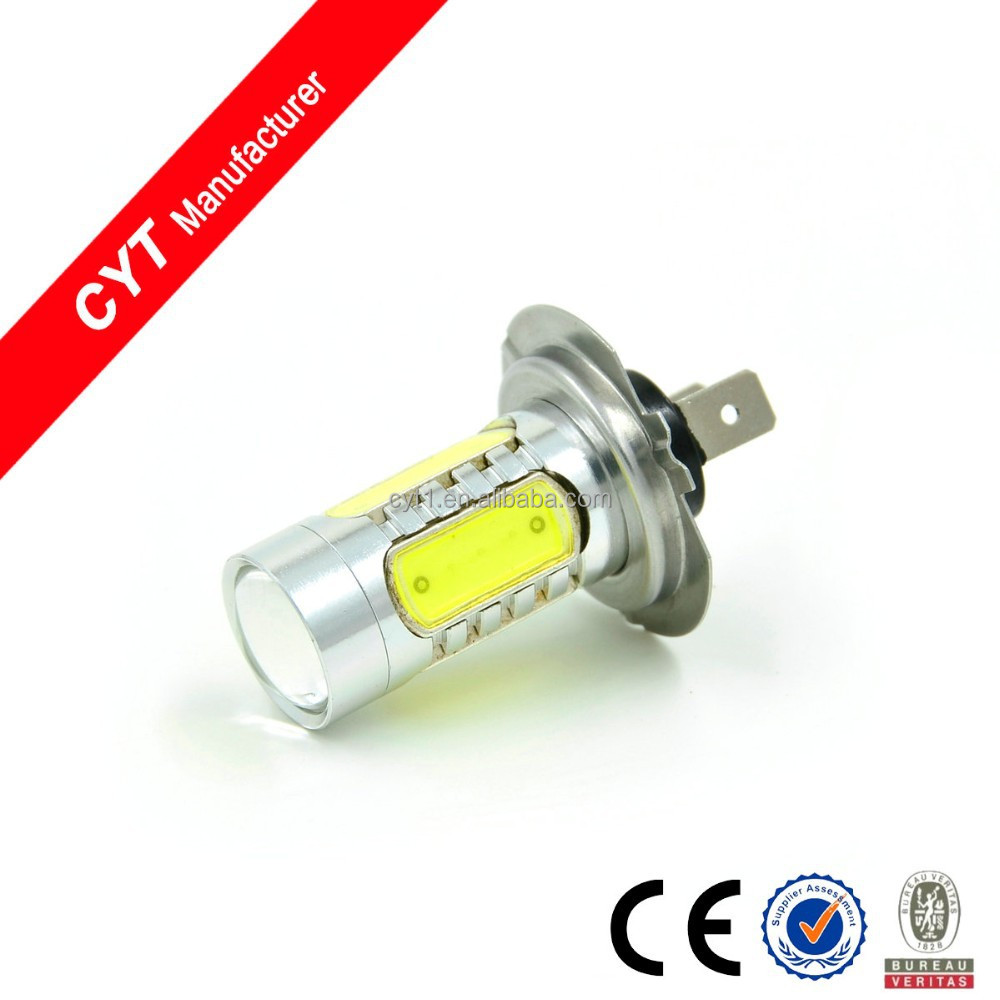 12V 7.5W H7 led White High Power auto Led light Headlight Fog light