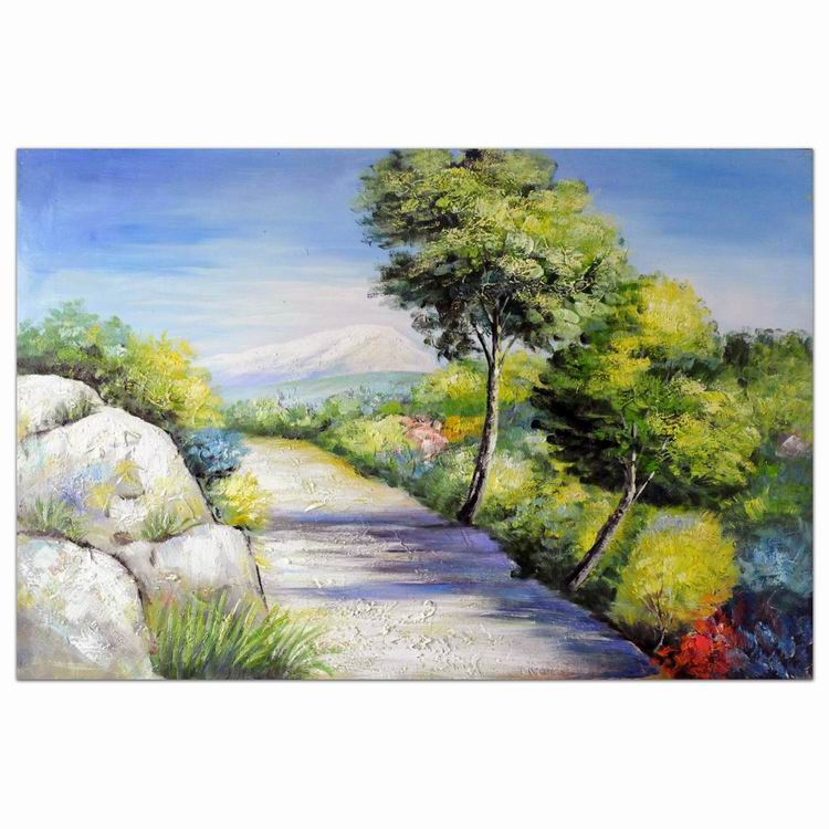 Village street scenery 100% Hand Painted abstract wall art oil painting