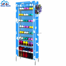 6 Tier Shoe Tower Rack Cabinet Organizer with Cover