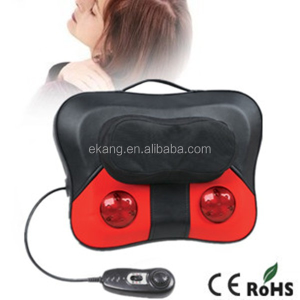 Portable Neck&Back Massage Cushion with Knocking and Kneading Function