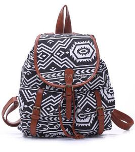 Stock Fashion Canvas Aztec Backpack